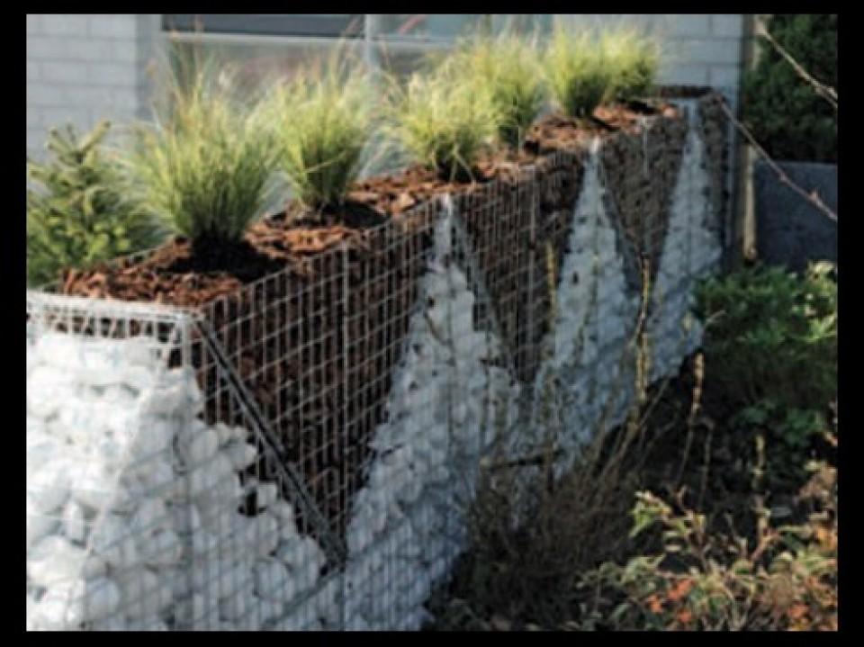Gabions mur en pierre d coratif soignies hobbylant - Decoratie stenen tuin ...