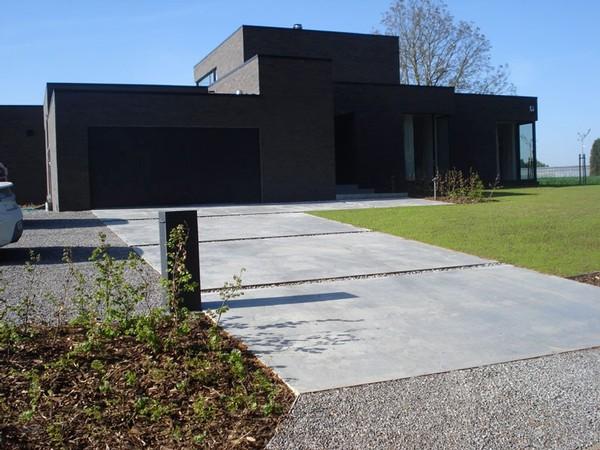 Parking in gepolierd beton geralds grimbergen waterloo - Afbeeldingen van terrassen verwachten ...