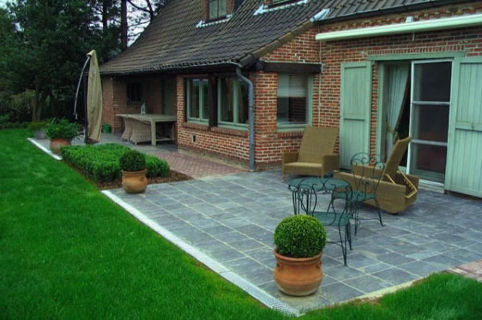 Aanleg terras tuinpad oprit vlaams brabant aalst for Terras decoratie