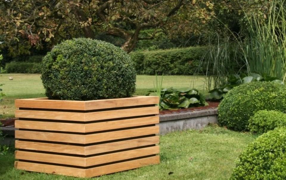 Bloembakken ukkel - Decoratie en bois ...