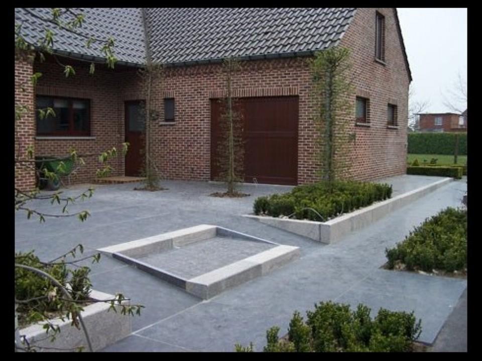 Boordstenen en keerwanden bij els garden antwerpen - Idee decoratie terras ...