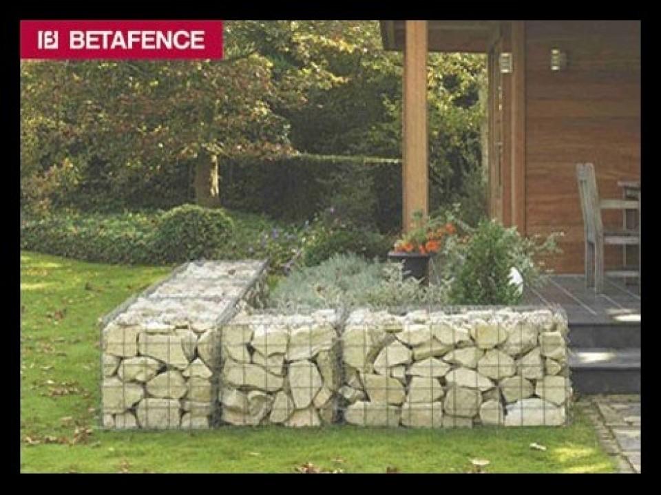 schanskorven en stenen muren door betafence Schanskorven en stenen muren door Betafence gabions mur en pierre mur decoratif hobbylant3 960x600