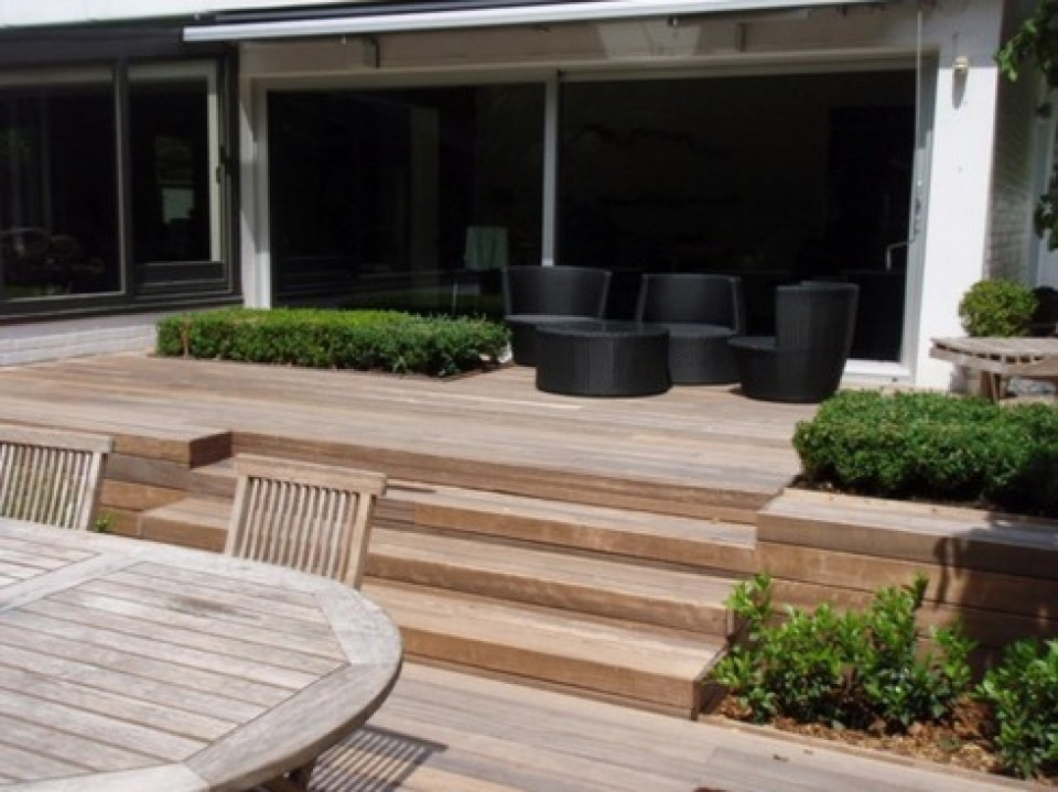 Houten Terras Houten Terras bij Geralds une terrasse en bois avec geralds1 960x600